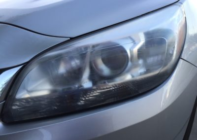 Headlight Restoration Before - Salt Lake City Utah - Car Detailing - Cloud 9 Detail